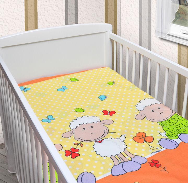 spannbettlaken spannbetttuch 120x60cm oder 140x70cm neu 100 baumwolle neu ebay. Black Bedroom Furniture Sets. Home Design Ideas