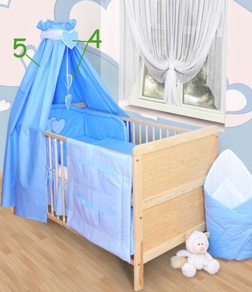 baby bettw sche himmel nestchen bettset mit. Black Bedroom Furniture Sets. Home Design Ideas