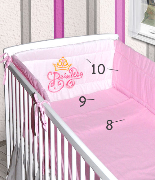 babybett wei kinderbett juniorbett 140x70 bettw sche. Black Bedroom Furniture Sets. Home Design Ideas