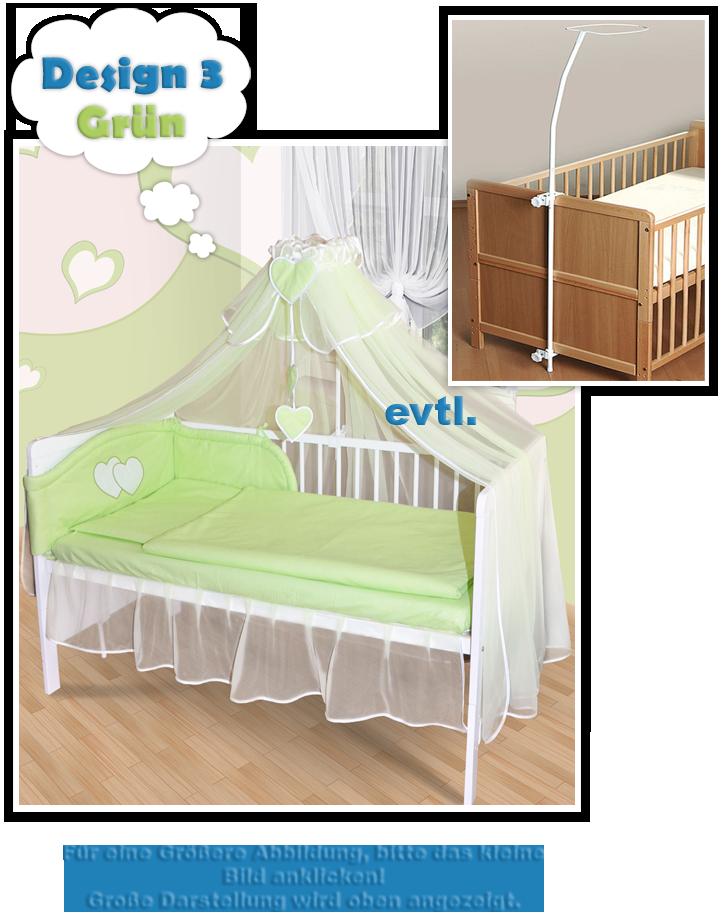 baby himmel moskitonetz f r babybett chiffonhimmel mit herzchen neu 6 farben ebay. Black Bedroom Furniture Sets. Home Design Ideas