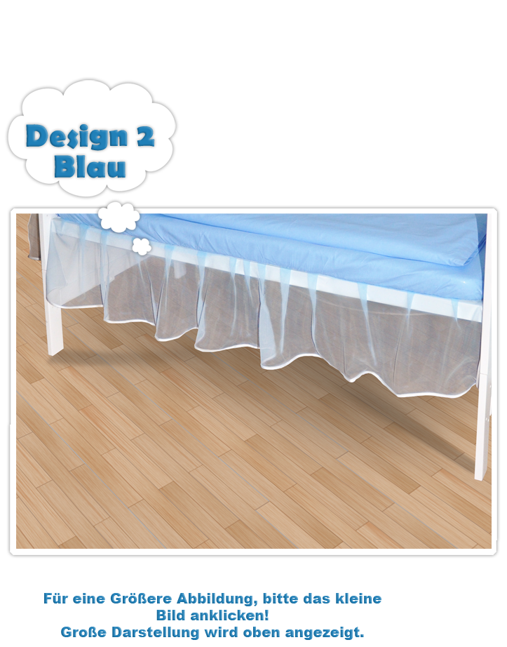 falbel aus chiffon f r babybett 140x70 farbe wei neu. Black Bedroom Furniture Sets. Home Design Ideas