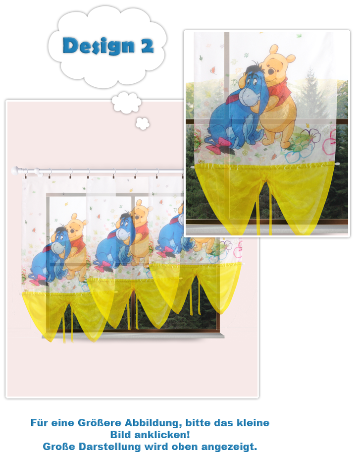disney gardine kindergardine kinderzimmer gardine baby gardine winnie pooh. Black Bedroom Furniture Sets. Home Design Ideas