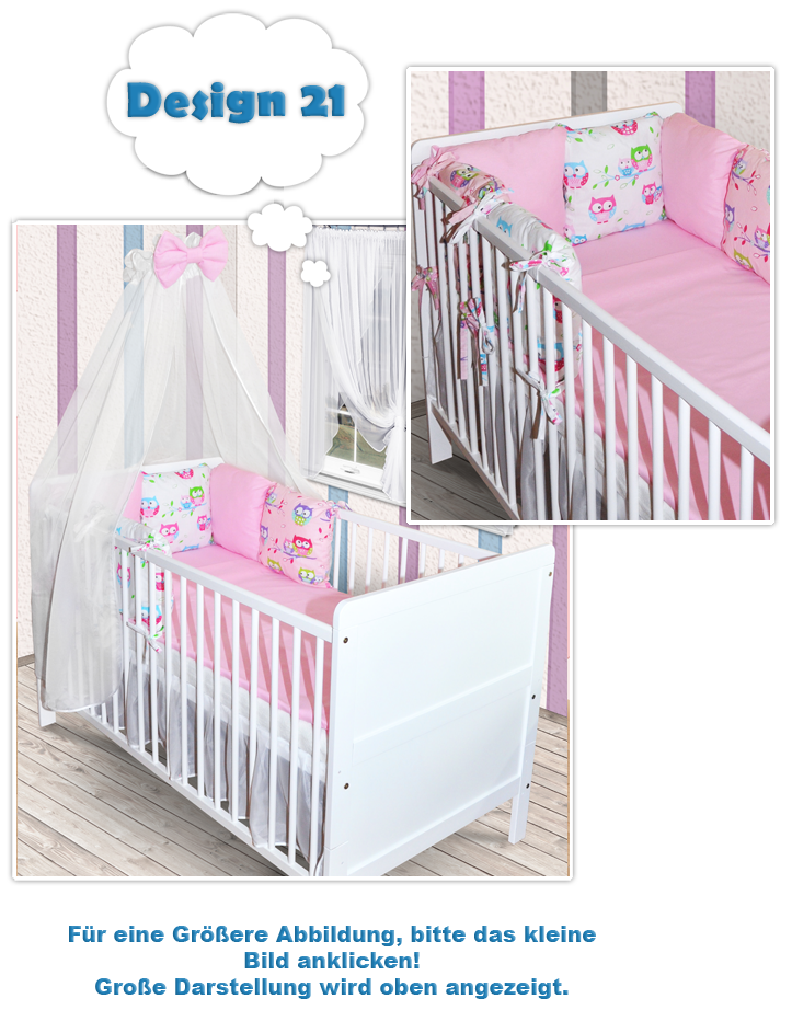 babybett kinderbett wei bettw sche bettset himmelstange kissen komplett set matratze schublade. Black Bedroom Furniture Sets. Home Design Ideas