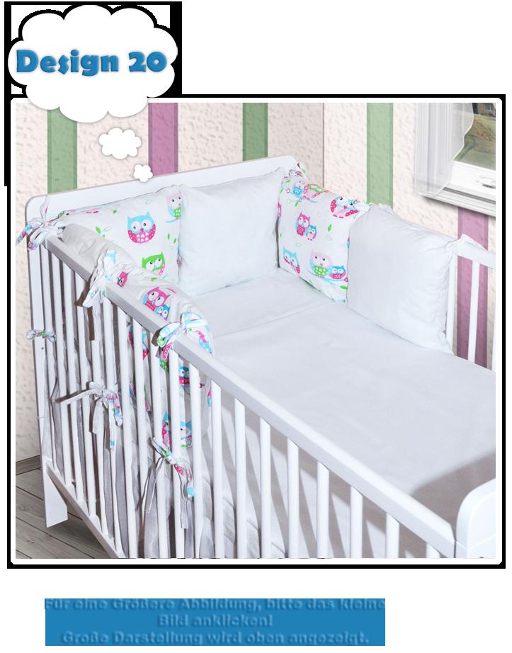6 x kissen als nestchen nestchen mit kopfschutz f r. Black Bedroom Furniture Sets. Home Design Ideas