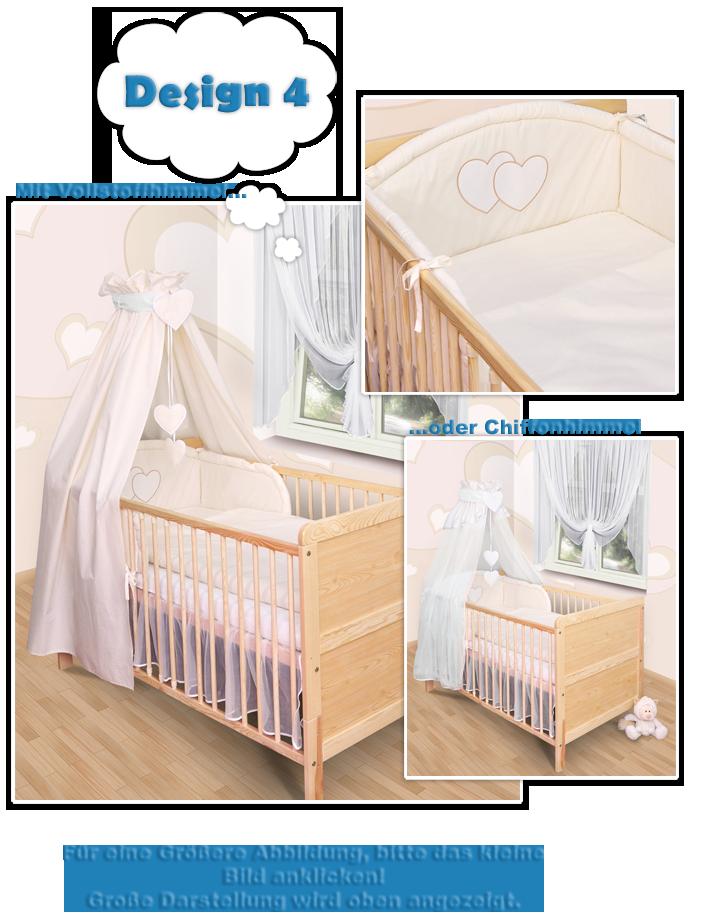 baby bettw sche himmel nestchen bettset mit applikation100x135cm neu herzchen ebay. Black Bedroom Furniture Sets. Home Design Ideas