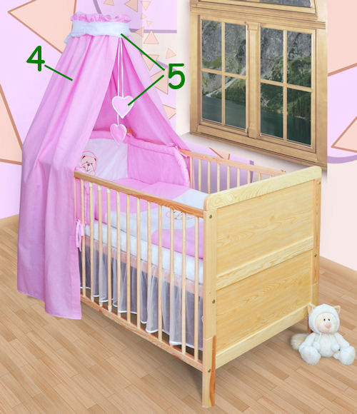 baby bettw sche himmel nestchen bettset mit stickerei 100x135cm neu ebay. Black Bedroom Furniture Sets. Home Design Ideas