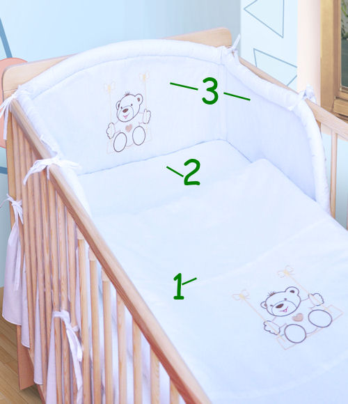 babybettw sche bettw sche mit stickerei schaukel nestchen neu babybett 140x70 ebay. Black Bedroom Furniture Sets. Home Design Ideas