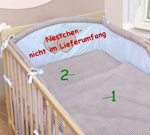 babybettw sche bettw sche decke und kissen 100x135 40x60 neu f r babybett ebay. Black Bedroom Furniture Sets. Home Design Ideas