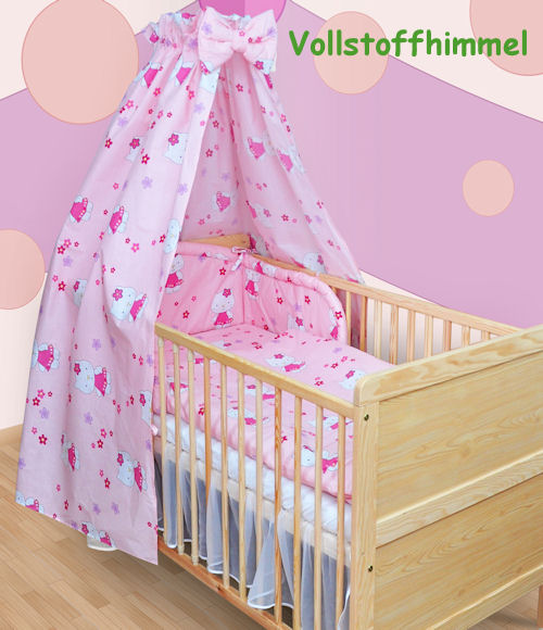 himmel vollstoff f r baby bett vollstoffhimmel neu ebay. Black Bedroom Furniture Sets. Home Design Ideas