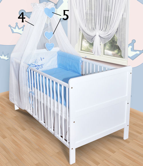 baby bettw sche himmel nestchen bettset mit stickerei 100x135 neu k ppelm hle. Black Bedroom Furniture Sets. Home Design Ideas