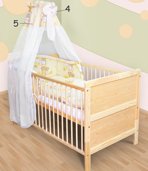 bettset himmelstange himmel nestchen babybettw sche f r. Black Bedroom Furniture Sets. Home Design Ideas